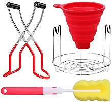 Canning Jar Lifter Kit, Sponge Cleaning Brush Set