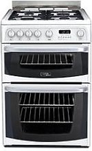 Cannon By Hotpoint Ch60Gciw 60Cm Double Oven Gas