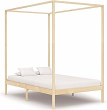 Canopy Bed Frame Solid Pine Wood Bed Frame Home