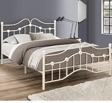 Canterbury Cream Metal Bed Frame - 4ft Small Double