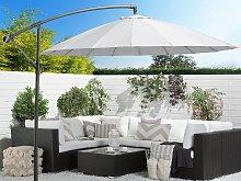 Cantilever Garden Parasol Light Grey Aluminium