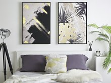 Canvas Art Print Black and White 93 x 63 cm