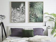 Canvas Art Print Green 93 x 63 cm Palm Tree Leaves