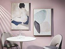 Canvas Art Print Grey and Black 93 x 63 cm Female