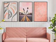 Canvas Art Print Multicolour 93 x 63 cm City