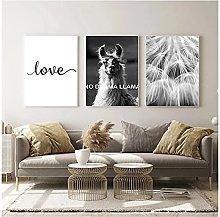 Canvas artwork No Frame 30x40cm 3Pieces Black