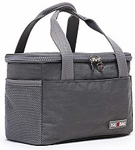 Canvas Insulated Cool Bag Lunch Box Tote Bag