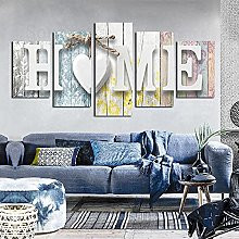 Canvas Painting Wall Art Couple English White Home