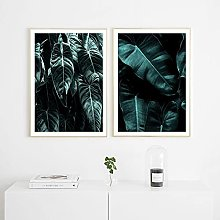 Canvas Paintings Wall Art Natural Poster Palm Leaf