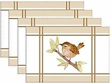 Canvas placemat Wren Bird,Table Place Mat for