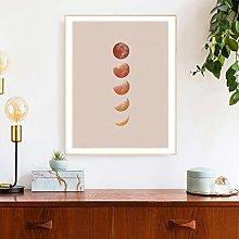 Canvas Print Boho Decor Lunar Phase Earth Tones