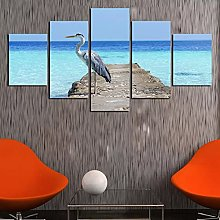 Canvas print Crane Picture Wall Art Pictures For