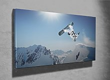 Canvas print Extreme sports Snowboard photo canvas