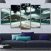 Canvas print For Living Room Modern HD 5 PiecePcs