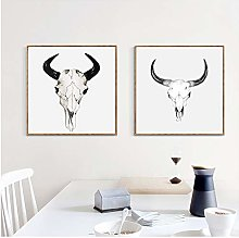 Canvas Print Goat Head Wall Art Posters Canvas