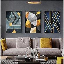 Canvas Print No Frame 50x70cm 3Pieces Modern