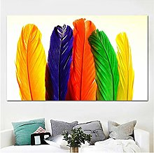 Canvas Print Painting Modern Feathers Poster Wall