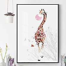 Canvas Print Poster Nordic Bedroom Painting Pink