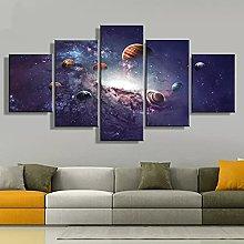 Canvas print Wall Art 5 Piece Poster Landscape
