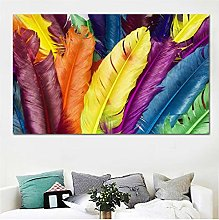 Canvas Print Wall Art Modern Feathers Painting
