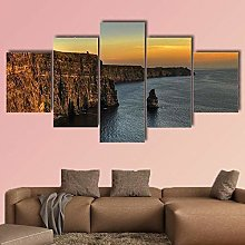 Canvas Print Wall Art Picture For Home Decor Cliff