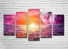Canvas Print Wall Art Picture For Home Decor Pink