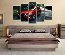 Canvas Print Wall Art Picture For Home Decor Red