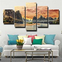 Canvas Print Wall Art Picture For Home Decor River