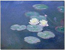 Canvas Print Water Lilies of Claude Monet Famous