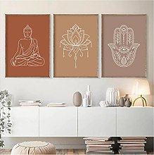 Canvas Prints No Frame 30x40cm 3Pieces Mandala
