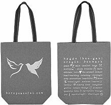 Canvas Tote Bag with Hyyge Design. Ecofriendly
