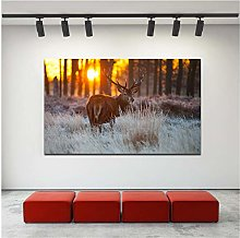 Canvas Wall Art Animal Deer Painting Print Poster
