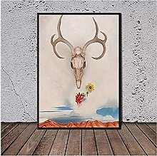 Canvas Wall Art Georgia O Keeffe Skull Poster