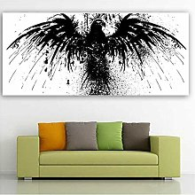 Canvas Wall Art Print Abstract Eagle Wing Animal