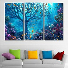 Canvas Wall Art Underwater Seascape Painting