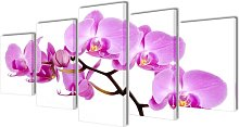 Canvas Wall Print Set Orchid 100 x 50