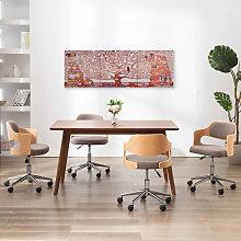 Canvas Wall Print Set Tree Yellow 120x40 cm -