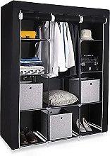 Canvas Wardrobe for Bedroom,Lsooyys Single Storage