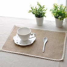 CanVivi Brown Lace Jute Table Mat Placemat Dinner