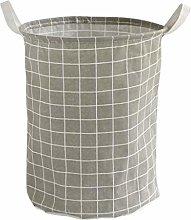 CAO-BASKET Storage Baskets,Linen Cotton Foldable