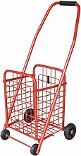 CAO-LIFE Portable Folding Shopping Cart, Trolley