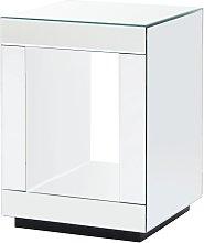 Capri Cube Lamp Table - Mirrored
