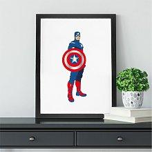Captain America Inspired Print | Avengers Wall Art