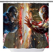Captain -America vs. -Iron- M-an Bath Shower