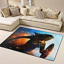 Captain Marvel Area Rug Floor Rugs Living Room