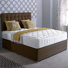 Capuccino Suede Divan Bed Set, Happy Beds Pinerest