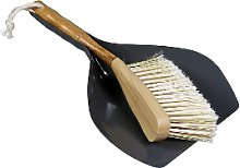 Capventure - Grey Bamboo & Metal Dustpan & Brush