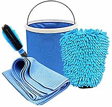 Car Cleaning and Drying Kit Includes Foldable