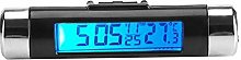 Car Clock Thermometer 2 in 1 Digital LCD Backlight