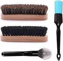 Car Detailing Brush Kit, SPTA 4Pcs Leather &